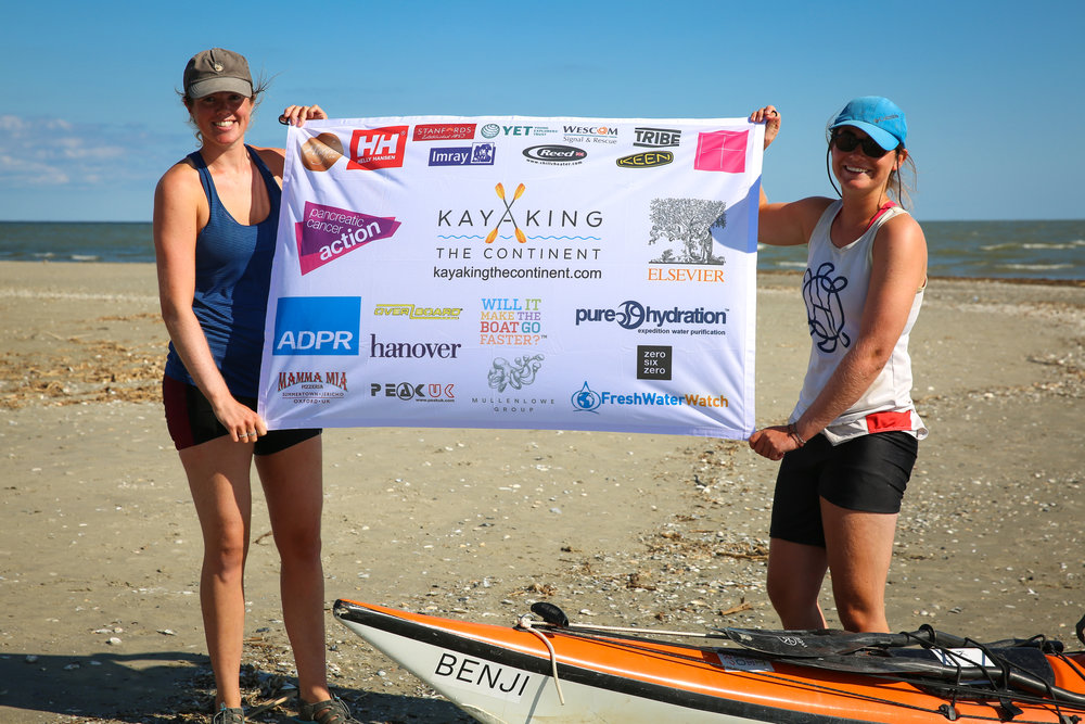 Kate culverwell Anna Blackwell Great Britain kayaking the continent nominee 2018 foundation award tandem kayak expedition world paddle